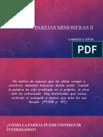 II Capacitación de Parejas Misioneras