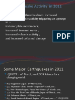 Earthquake Activity  2011 and The San Andreas Fault