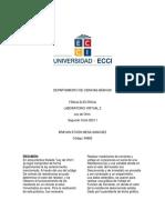 II Informe de Laboratorio Ley de Ohm