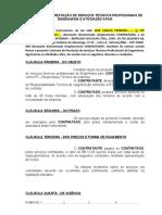 MODELO DE CONTRATO ENGENHEIRO