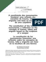A constituição dos monumentos fúnebres - uma reflexão dos conceitos de trauma, tabu e angústia com base na escultura de uma carpideira