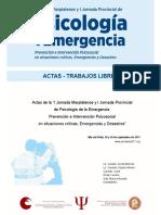 PSICOLOGÍA DE LA EMERGENCIA Y ESPIRITUALIDAD. EL PAPEL AQUÍ Y AHORA EN EL DESARROLLO DE LA RESILIENCIA.