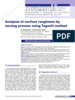 Analyses of surface roughness by
