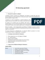 TD 2 Marketing approfondi. td 2. corrigé