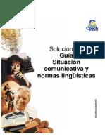 Solucionario guía Situación comunicativa y normas lingüísticas