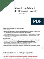 Contribuição de Marx à Teoria Do Desenvolvimento - Gravação -04!04!2021