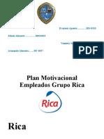 Plan Motivacional Empleados Grupo Rica