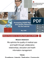 Accessing OASIS Reports for Home Health Agencies