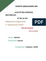 Teste de Français