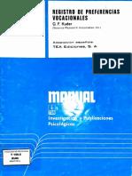 Manual KUDER-C
