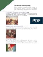 Sucesos Históricos de Guatemala