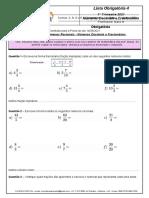 Lista Obrigatória 4 Matemática Referente à Prova do dia 14 MAIO 2021