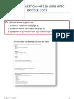 Créer un questionnaire en ligne avec Google Docs