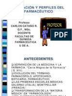 EDUCACION Y PERFILES DEL FARMACEUTICO