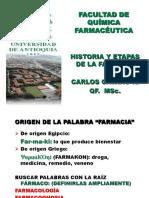 HISTORIA Y ETAPAS DE LA FARMACIA