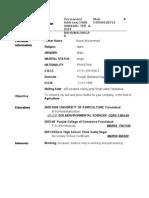 Professional Resume zahid khan