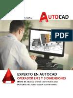 Brochure de Experto en Autocad