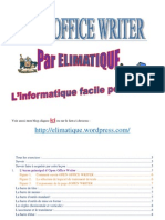 Elimatique Open Office Writer Niveau 1