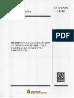Método Para La Extraccion de Probetas Cilidricas. Norma Venezolana