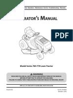 Manual tractor corta pasto