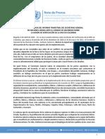 Nota de Prensa Informe UNVMC 6 abril, 2021