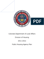 Colorado Division of Housing 2011-2012 Public Housing Agency Plan