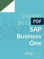 Dossier Lista de Tablas SAP