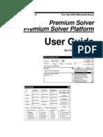 Premium Solver Version 5.5