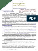 Lei nº 11.350 Lei que rege o trabalho dos ACS e ACE