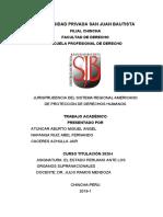 Jurisprudencia Del Sistema Regional Americano de Protección de Derechos Humanos