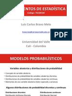 Modelos Probabilisticos (Variables Aleatorias y Distribuciones de Probabilidad)