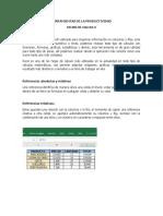 HERRAMIENTAS DE LA PRODUCTIVIDAD - HOJAS DE CALCULO