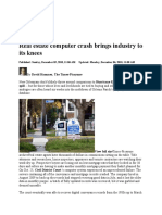 Real Estate Computer Crash Brings Industry to Its Knees