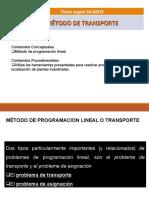 SEMANA 5 - MÉTODO DE TRANSPORTE Y ASIGNACIÓN