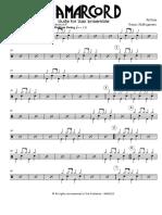 Rota N. - Amarcord - Suite - Sax Ensemble - Drum Set