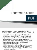 9.Leucemii acute Dr.Berbec Nicoleta