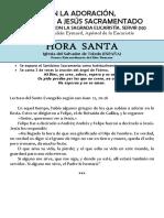 EN LA ADORACIÓN,  SERVIMOS A JESÚS SACRAMENTADO (10) Hora santa con San Pedro Julián Eymard