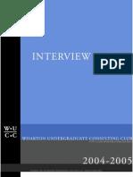 2004-2005 Penn Wharton Undergraduate CC