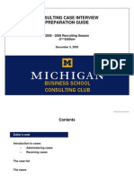 2005-2006 Michigan Ross CC Case Interview Preparation Guide