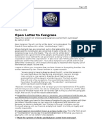 03-08-08 OEN-Open Letter to Congress by Kathryn Smith