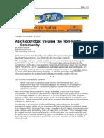 03-10-08 BuzzFlash-Ask Rockridge_Valuing the Non-Profit Comm
