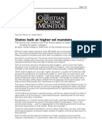 03-10-08 CSM-States Balk at Higher-ed Mandate by Stacy Teich