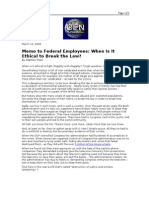 03-10-08 OEN-Memo to Federal Employees_When is It Ethical To