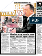 Sunday World also  'Gagged' by Northumbria Police. Top Cops Gag Newspaper