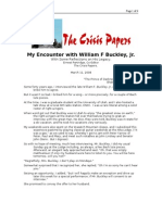 03-11-08 CrisisPapers-My Encounter With William F Buckley, J