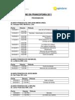 Cine en Francofonia 2011