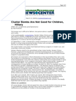 03-13-08 CD-Cluster Bombs Are Not Good for Children, Hillary