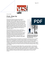 03-15-08 First, Step Up by Bill McKibben