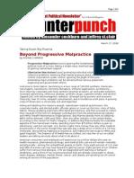 03-17-08 CP-Beyond Progressive Malpractice by RONNIE CUMMINS