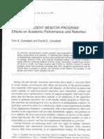 Faculty-student mentor program